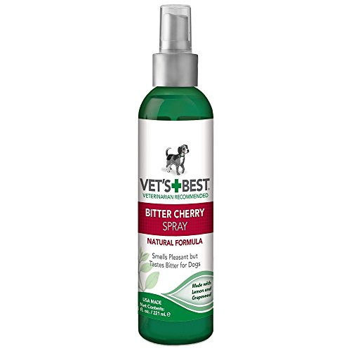 Vet's Best Bitter Cherry Spray No Chew Dog Deterrent, 7.5 oz