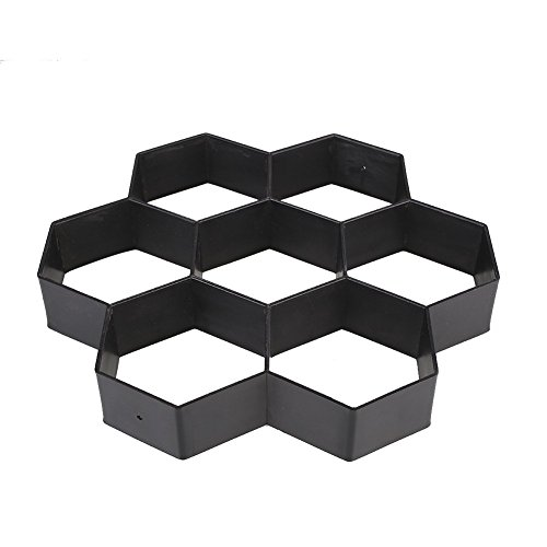 TENSEM Garden Path Maker Mold Reusable Concrete Molds Stepping Stone Paving Mold for Lawn Walking Mini Size: 11.7X11.7X1.5 (Garden Stone Concrete)