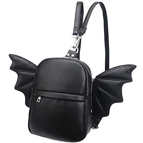 Women Fashion Mini Backpack   Detachable Bat Angel Wing Shoulder Bag ()