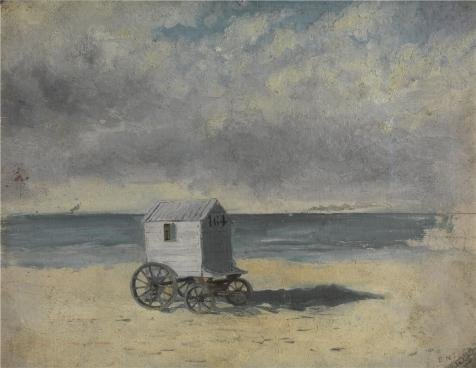 Oil Painting 'James Ensor - Bathing Hut,1876', 10 x 13 inch / 25 x 33 cm , on High Definition HD canvas prints is for Gifts And Garage, Kitchen And - Cash Hut Sunglasses Back