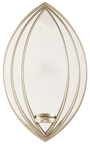 Ashley Furniture Signature Design - Donnica Wall Sconce - Contemporary - Silver Finish (Sconces Candle Contemporary)