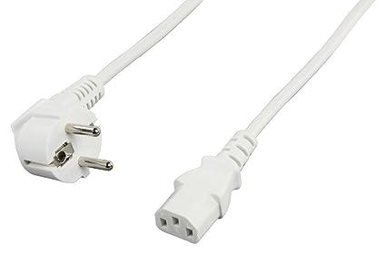 Valueline 703W - Cable de alimentación (5 m, conector C13), blanco ...