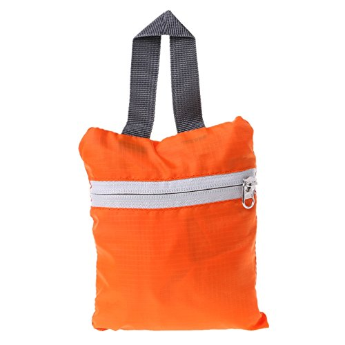Storage Shoulder Camping Bags Foldable Travel Sport JAGENIE Orange Hiking Zipper Nylon Backpack xqTXxYp