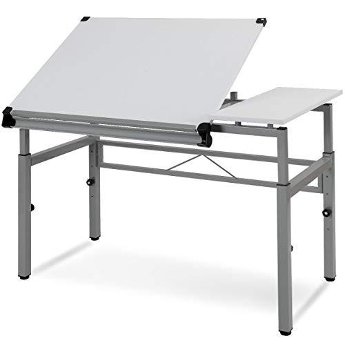 Seleq Adjustable Steel Frame Drawing Desk Drafting Table
