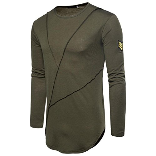 Sweatshirts Blouse Men's Top PASATO Green Autumn Joint Long Army Color Sleeved Pure w0zgxSdqz