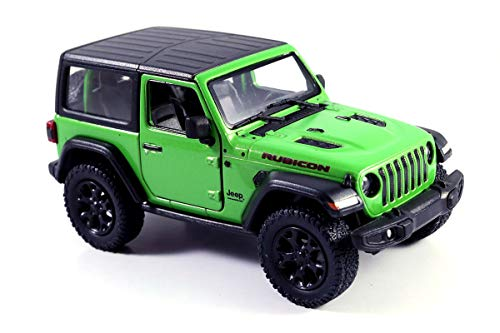 Jeep Wrangler Rubicon 4x4 Hard Top Off Road Exploration Diecast Model Toy Car Green ()