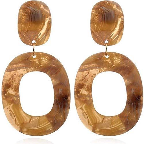 7046fdcfc Amazon.com: Statement Acrylic Earrings for Women:Big Geometric Plastic Retro  Dangle for Women (Brown): Jewelry