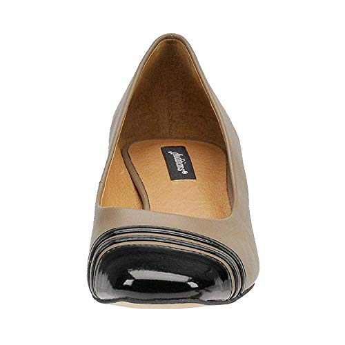 (Auditions Womens Classy Leather Square Toe Classic Pumps, Tan, Size 7.0)