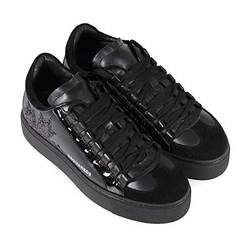 Dsquared2 Inverno Squadra Canadese Da Scarpe 2019 Nero Autunno Sneaker Donna qAExtw8