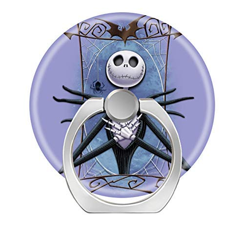 Smart Phone Stand Ring Holder Universal 360 Degree Rotating Finger Grip Kickstand for All Cell Phones Tablets-Jack Skellington Spider Web ()