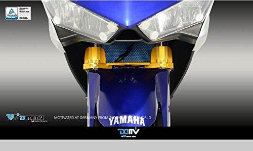 Dimotiv DMV フロントフォークブラケットFront Fork Bracket YAMAHA YZF-R25 / YZF-R3 チタン DI-FFB-YA-01-T   B01CCDHJEW