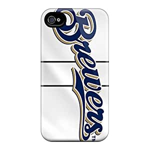 Rlbennett Scratch-free Phone Case For Iphone 4/4s- Retail Packaging - Milwaukee Brewers