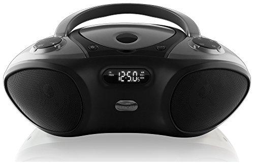 iLive Boombox Bluetooth Speaker with CD Player and FM Radio (Black) (Renewed)