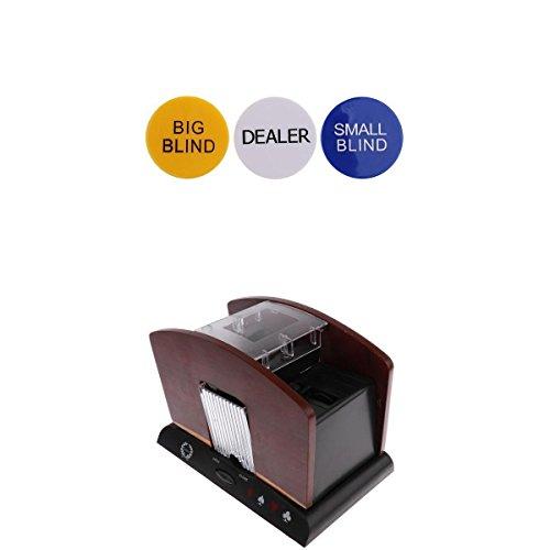 Homyl 4 Decks Wooden Automatic Card Shuffler Casino Games Shuffling Toys+Dealer #2 by Homyl
