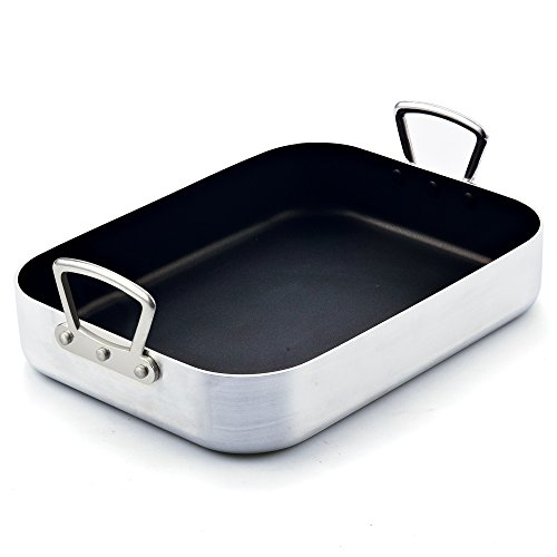 """Cook N Home 02433 Nonstick Turkey Roaster with Rack, 16 by 12"""", Black"""