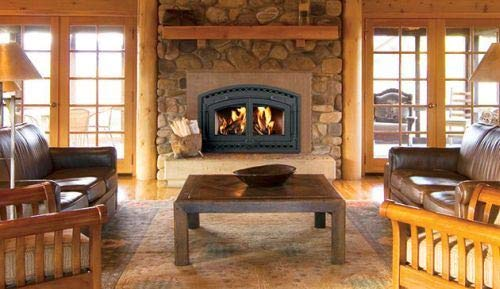 Superior Fireplaces EPA Certified CAT Wood Burning Fireplace w/White Stacked Panels by Superior Fireplaces