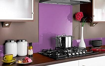 COPETE DE VIDRIO COLOR para frentes de cocinas en diferentes medidas / Zócalo de Encimera antisalpicaduras