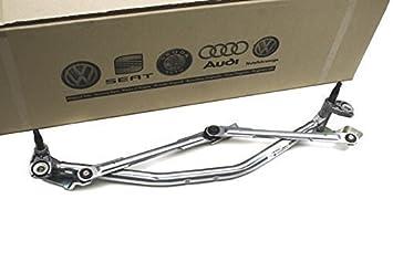 Original Volkswagen VW Piezas de repuesto Varillaje de limpiaparabrisas (Polo 9N) Grabación: Amazon.es: Coche y moto