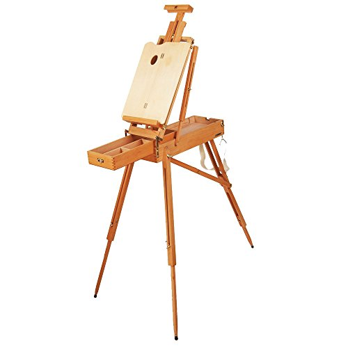 US Art Supply Small Box French Field Wooden Box Artist Easel ()