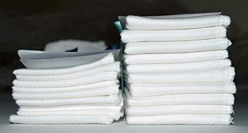 2 Ply 11x12 Inches White Cotton Birdseye Paperless Towel Set of 10 White Edging