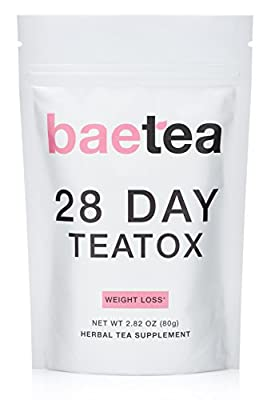 Baetea Weight Loss Tea: Detox, Body Cleanse, Reduce Bloating, & Appetite Suppressant, 28 Day Teatox, with Potent Traditional Organic Herbs, Ultimate Way to Calm and Cleanse Your Body