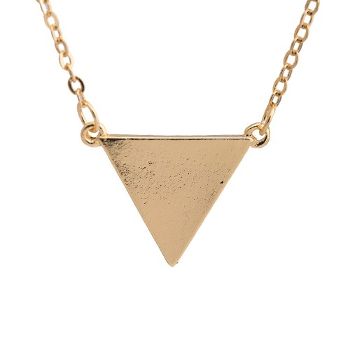 (Spinningdaisy Simple Love Triangle Necklace (Gold Plated))