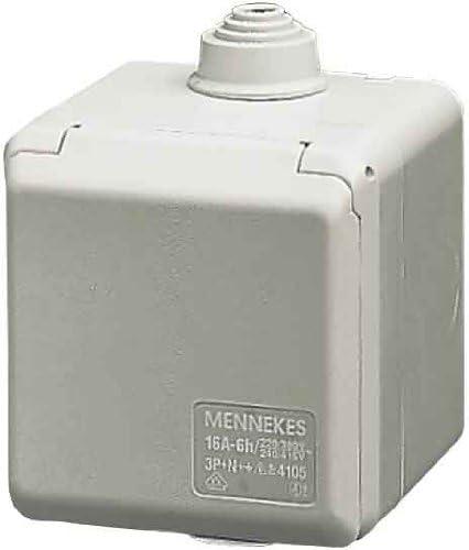 Mennekes Pared Caja para empotrar 4102 16 A, 3P, 6h, 230 V, IP44 ...