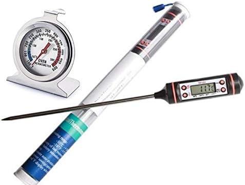 Noondl - Termómetro de horno para ventilador de gas eléctrico redondo horno, pantalla Celcius Farenhiet, lectura de cristal de alta resistencia al calor, medidas de hasta 310 grados: Amazon.es: Hogar