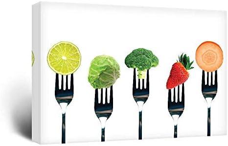 Fruits and Vegetables on Forks