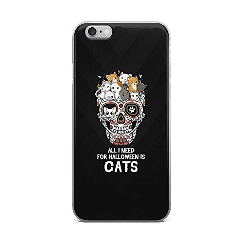 iPhone 6 Plus/6s Plus Pure Clear Case Cases Cover All I Need for Halloween is Cat- Cute Kittens TPU Compatible Slim Cover for $<!--$19.45-->