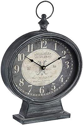 Reloj de mesa de metal - estilo vintage: Amazon.es: Hogar
