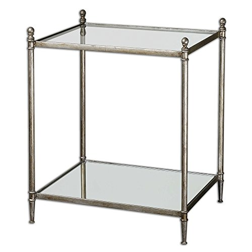 - NR Lighting Gannon Mirrored Glass End Table