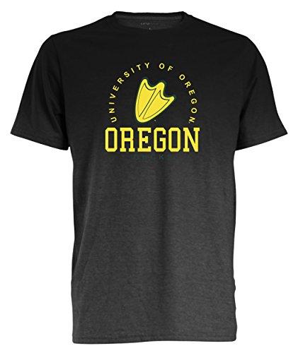 Camp David NCAA Oregon Ducks Men's Dip Dyed Heather Tee, X-Large, Charcoal