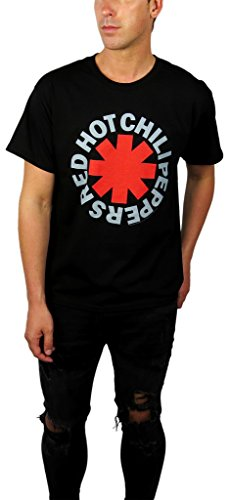 Red Hot Chili Peppers Mens Classic Logo Graphic Tee (X-large, Classic Astrick)