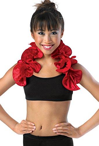 [Balera Dance Costume Satin Ruffle Shrug] (Balera Costumes)
