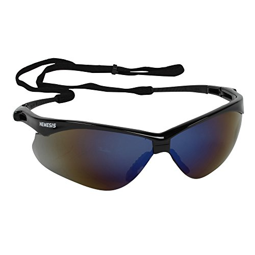Jackson Safety Nemesis CSA Safety Glasses (20382), CSA Certified, Blue Mirror Lens with Black Frame, Pack of 12