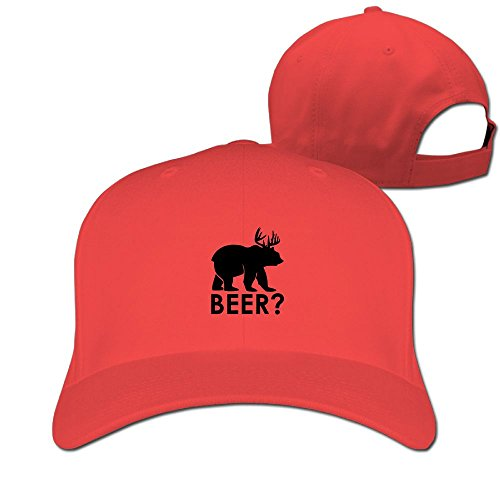 Kkajjhd Dear Bear Adjustable Fashion Cap Sports Baseball Cap.