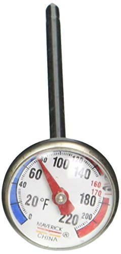 Maverick Housewares IRT-01 Redi-Chek 1-Inch Dial Professional Instant Read Thermometer, Silver