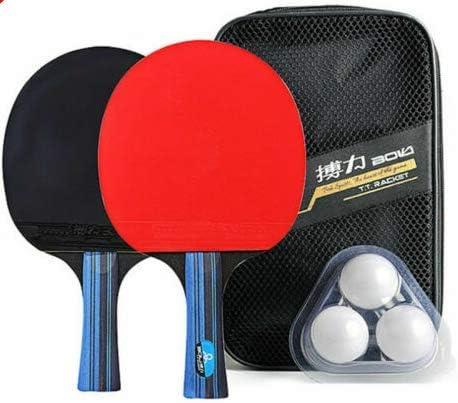 baybay Ping-Pong Raqueta Entrenamiento Estudiante Goma Cómoda Mango Omnipotente Paleta Ping Pong