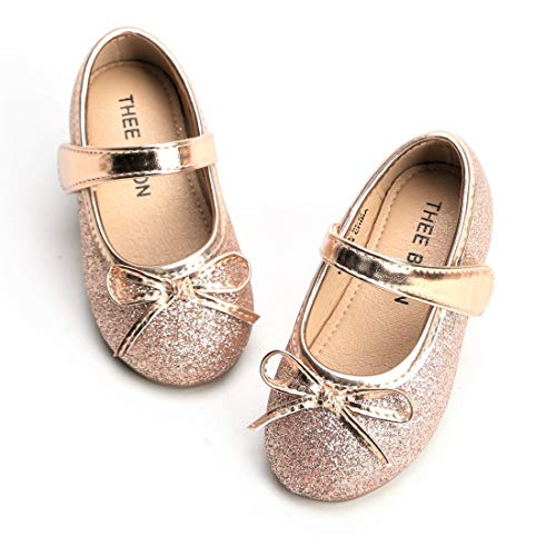 THEE BRON Girl's Toddler/Little Kid Ballet Mary Jane Flat Shoes (6M US Toddler, G03 Rose) ()