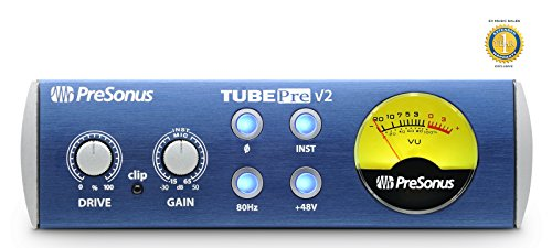 Price comparison product image PreSonus TubePre v2 Compact Single-channel Microphone Preamplifier with 1 Year Free Extended Warranty