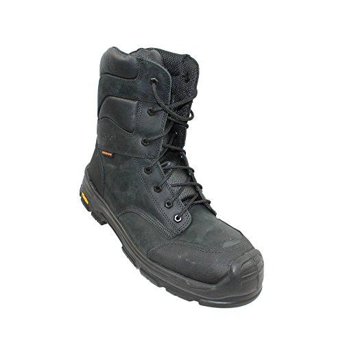 Ergos Montana S3 CI HRO SRC Sicherheitsstiefel Arbeitsschuhe Berufsschuhe Stiefel Schwarz Schwarz