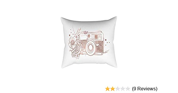 5bb2d8c53b7 Amazon.com  KaiCran Vintage Square Pillowcase Hair for Cool and Easy to  WASH Queen Size 30cm x 50cm Rose Gold Pink Cushion Cover (I)  Home   Kitchen