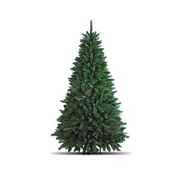 Totò Piccinni Albero di Natale Artificiale, 210 cm (1078 Rami) Borsone e Copribase, FOLTO di ALTISSIMA QUALITA', Effetto Realistico, Rami a Gancio, Facile Montaggio, PVC, Base Metallica, Ignifugo 5 spesavip