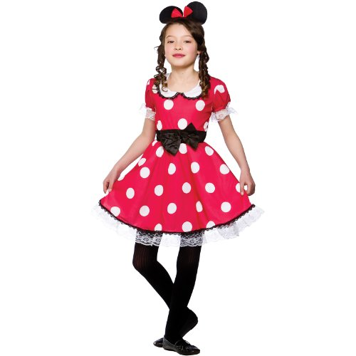 Girls Cute Mouse Girl Costume Fancy Dress Up Party Halloween Outfit Kid Large by Wicked - Halloween Outfits Uk