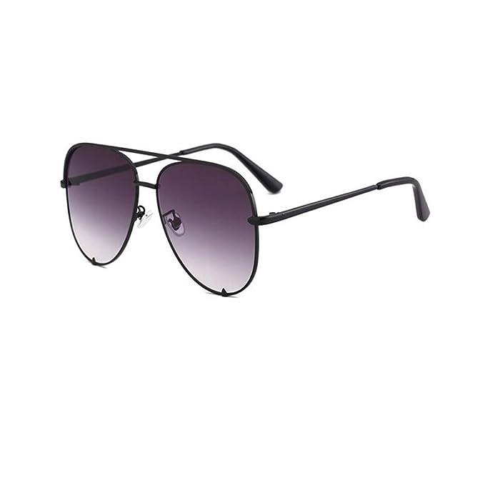 DERTILP Gafas de sol Fashion Flat Top Sunglasses Mirror ...