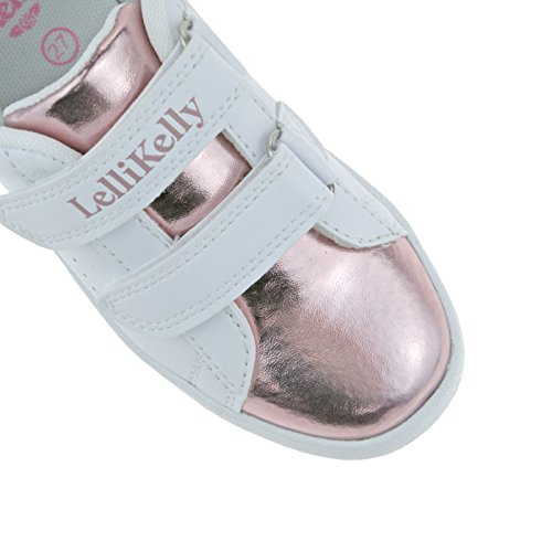 24 AA52 LK5830 Rosa UK Bianco 6 Lelli Shoes Marcia Adjustable Trainer 5 Kelly HzyqcgEUFZ