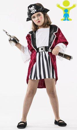 Disfraz de Pirata Aventurera para niña: Amazon.es: Juguetes y juegos