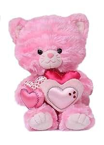 Aurora Milly - Gato de peluche con corazones (19 cm)