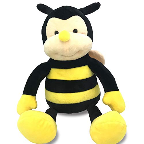 Garden Buzz Cuties Plush Nana The Bee with Smile Face and Yellow Wings -Bumblebee Animal Shaped Soft Toy Present for Children 12 inch (12 inch Head to Toe)